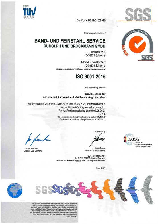 ISO 9001-2015 TÜV Certificate